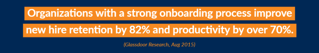 Organizations with a strong onboarding process improve new hire retention by 82% and productivity by over 70%